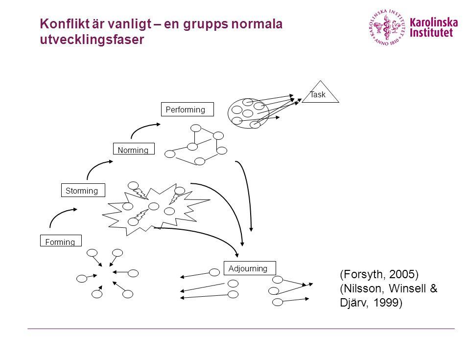 Konflikt är vanligt – en grupps normala utvecklingsfaser