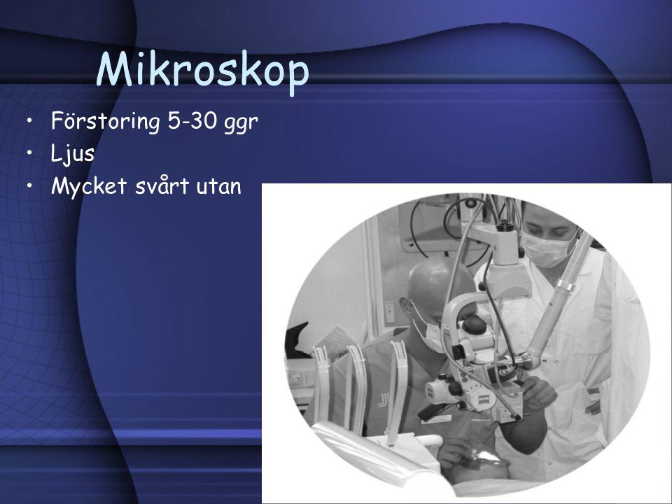 Mikroskop Förstoring 5-30 ggr Ljus Mycket svårt utan