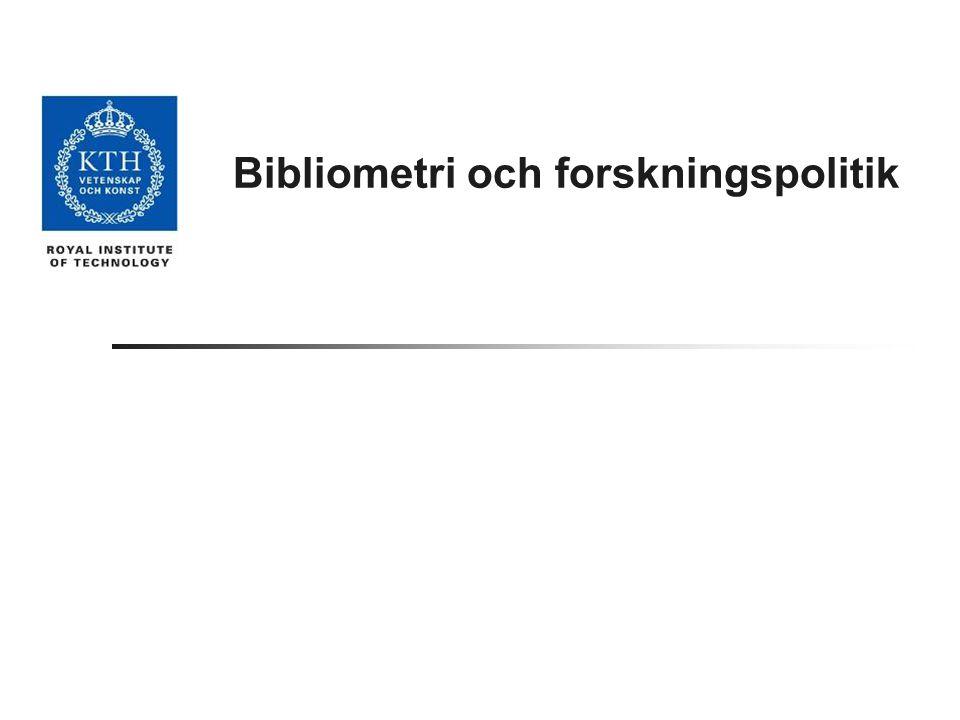 Bibliometri och forskningspolitik