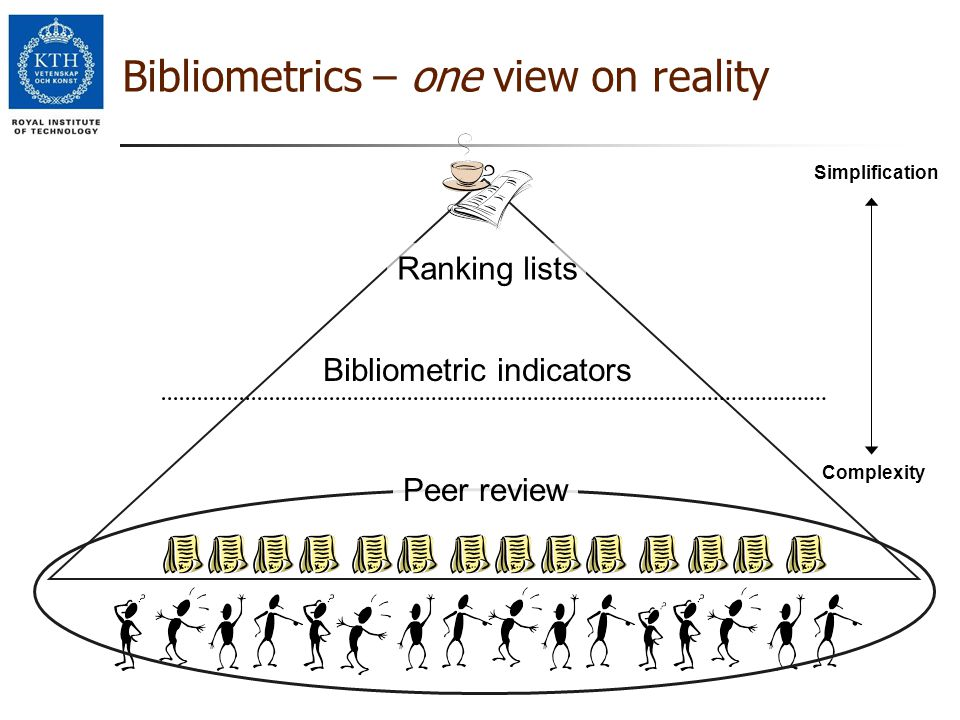 Bibliometrics – one view on reality