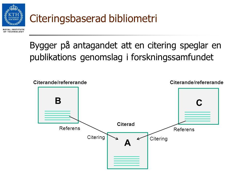 Citeringsbaserad bibliometri