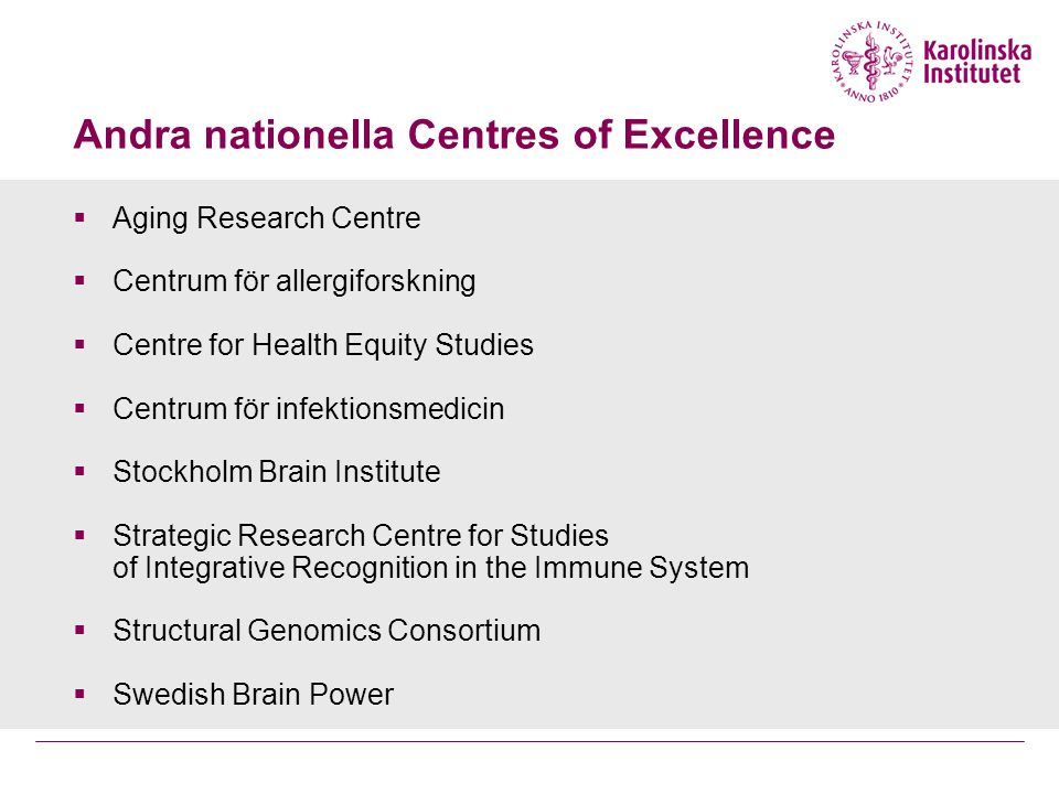 Andra nationella Centres of Excellence