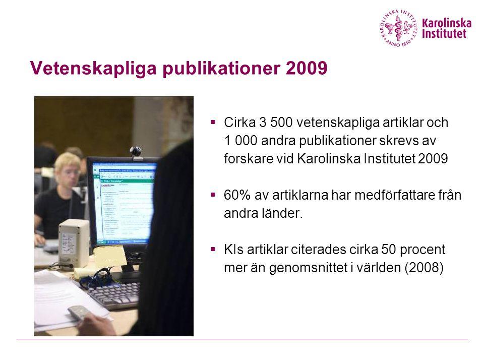 Vetenskapliga publikationer 2009
