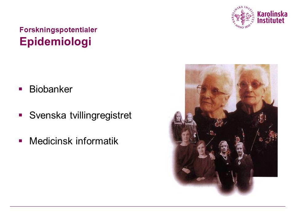 Forskningspotentialer Epidemiologi