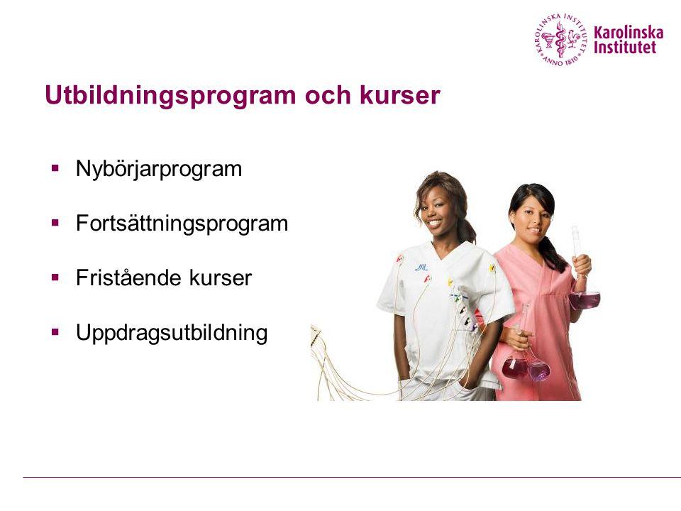Utbildningsprogram och kurser