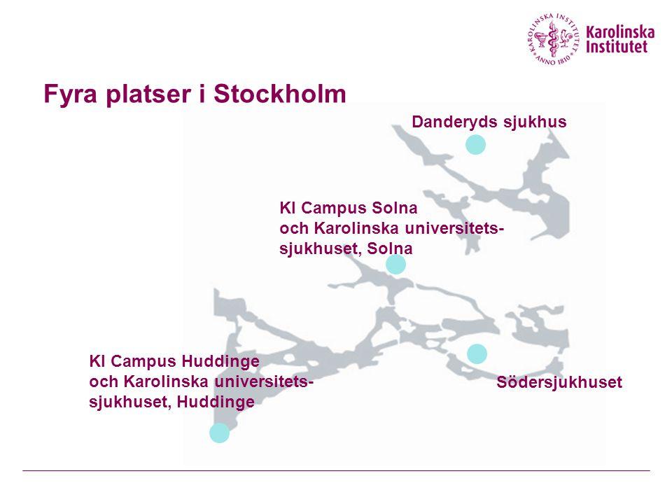 Fyra platser i Stockholm