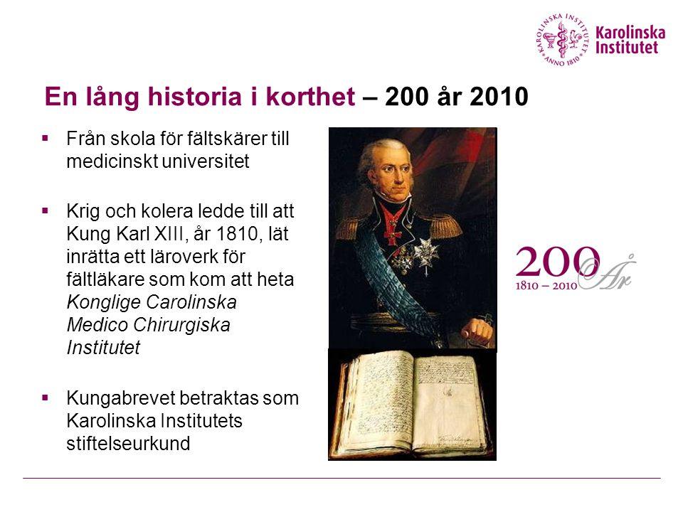 En lång historia i korthet – 200 år 2010
