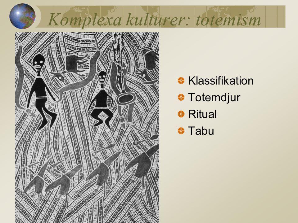 Komplexa kulturer: totemism