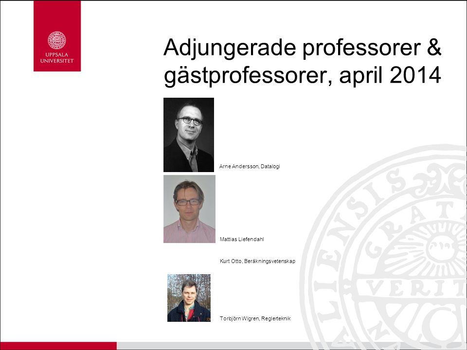 Adjungerade professorer & gästprofessorer, april 2014