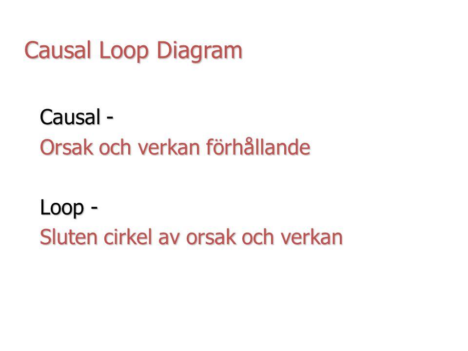 Causal Loop Diagram Causal - Orsak och verkan förhållande Loop -