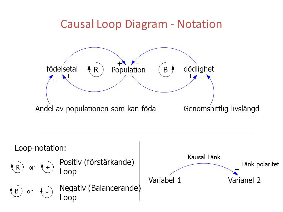 Causal Loop Diagram - Notation