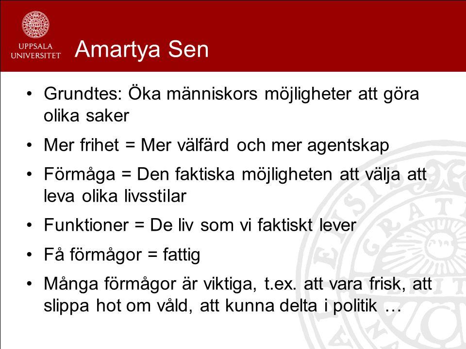Amartya Sen Grundtes: Öka människors möjligheter att göra olika saker