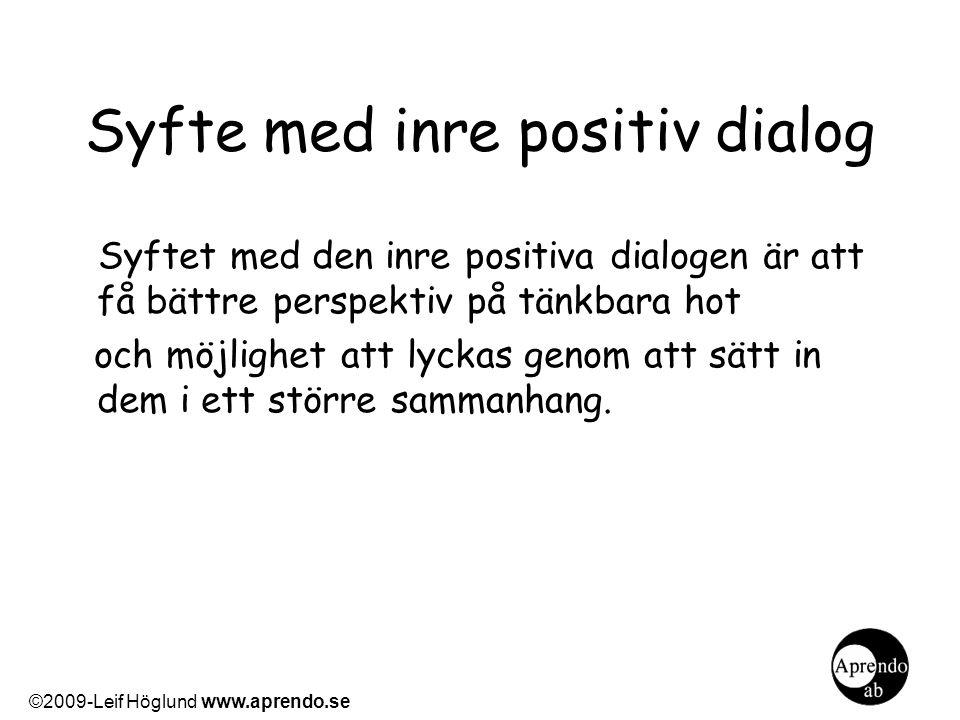 Syfte med inre positiv dialog