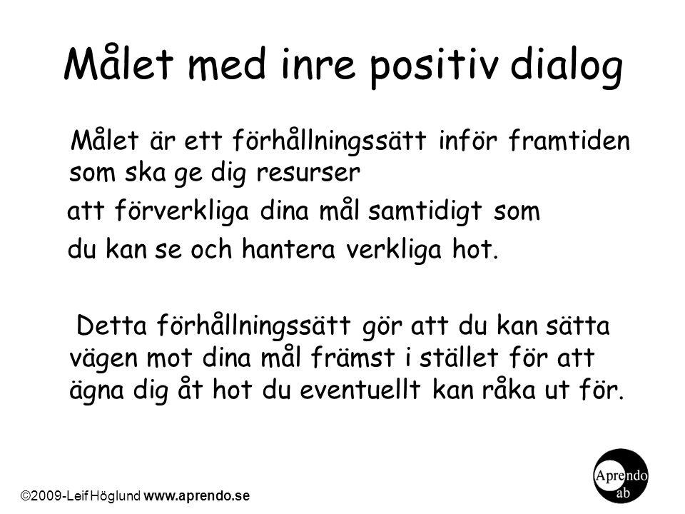 Målet med inre positiv dialog