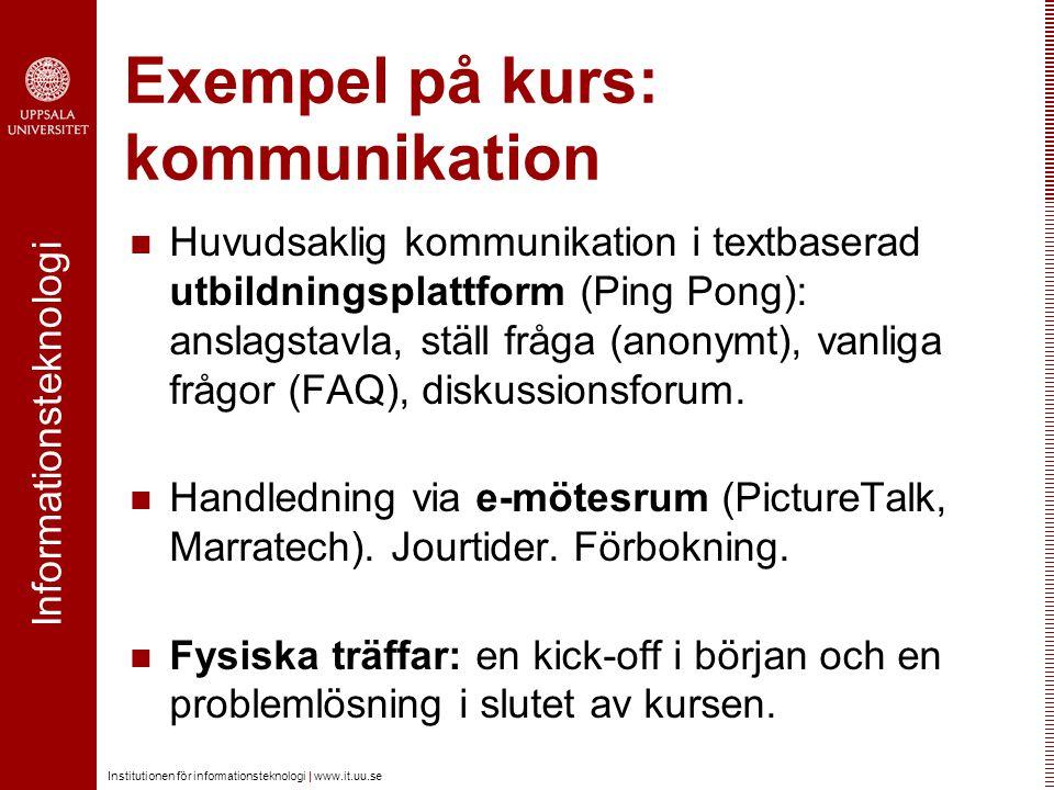Exempel på kurs: kommunikation