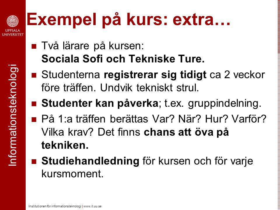Exempel på kurs: extra…