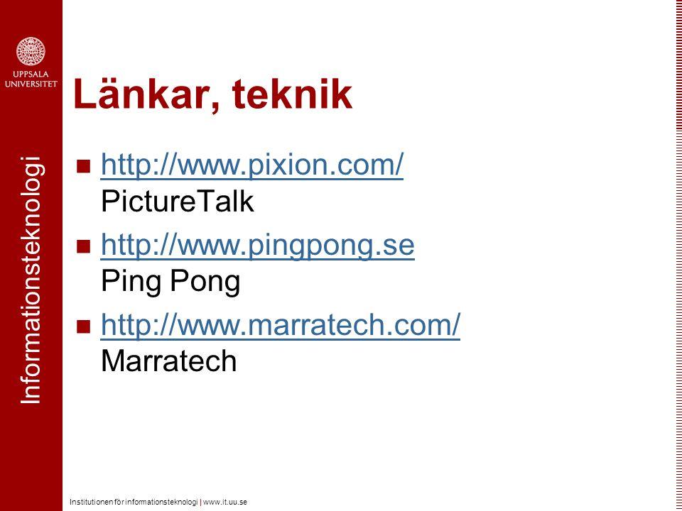 Länkar, teknik http://www.pixion.com/ PictureTalk