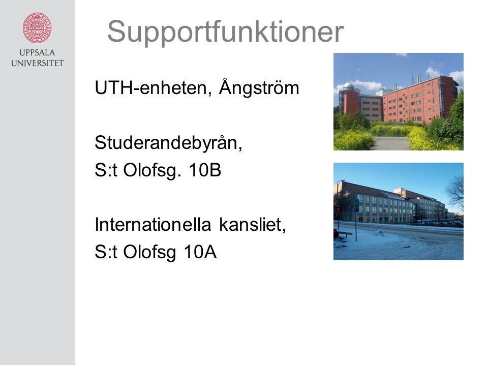Supportfunktioner UTH-enheten, Ångström Studerandebyrån,