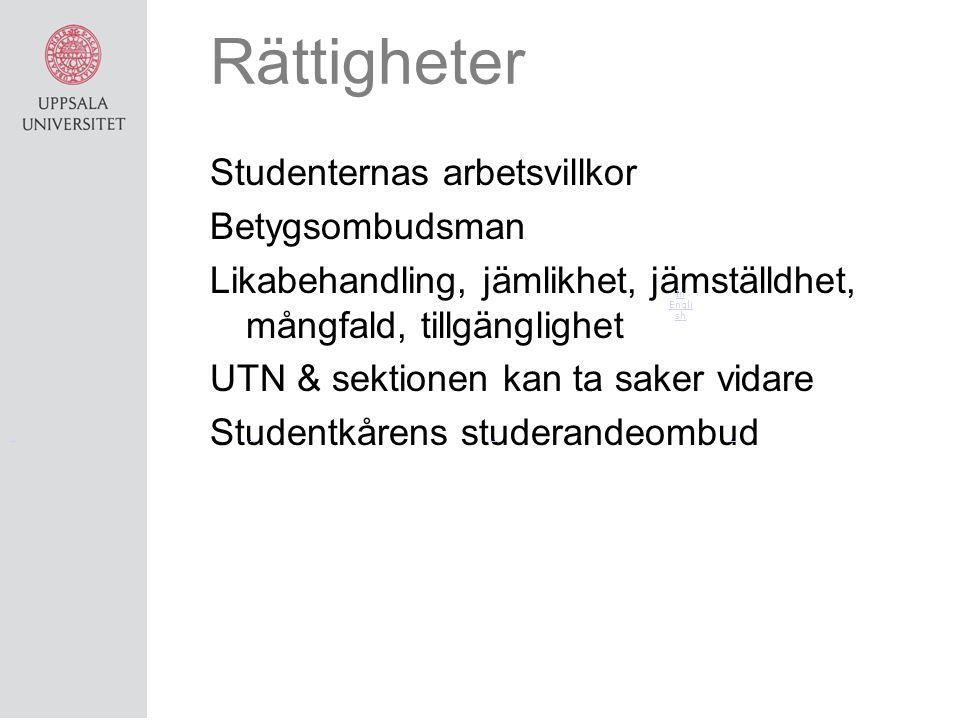 Rättigheter Studenternas arbetsvillkor Betygsombudsman