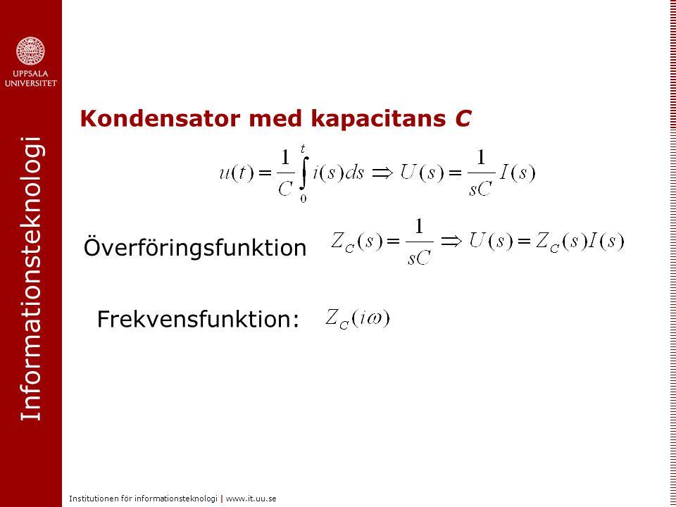 Kondensator med kapacitans C
