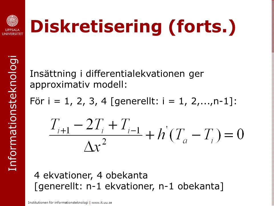 Diskretisering (forts.)