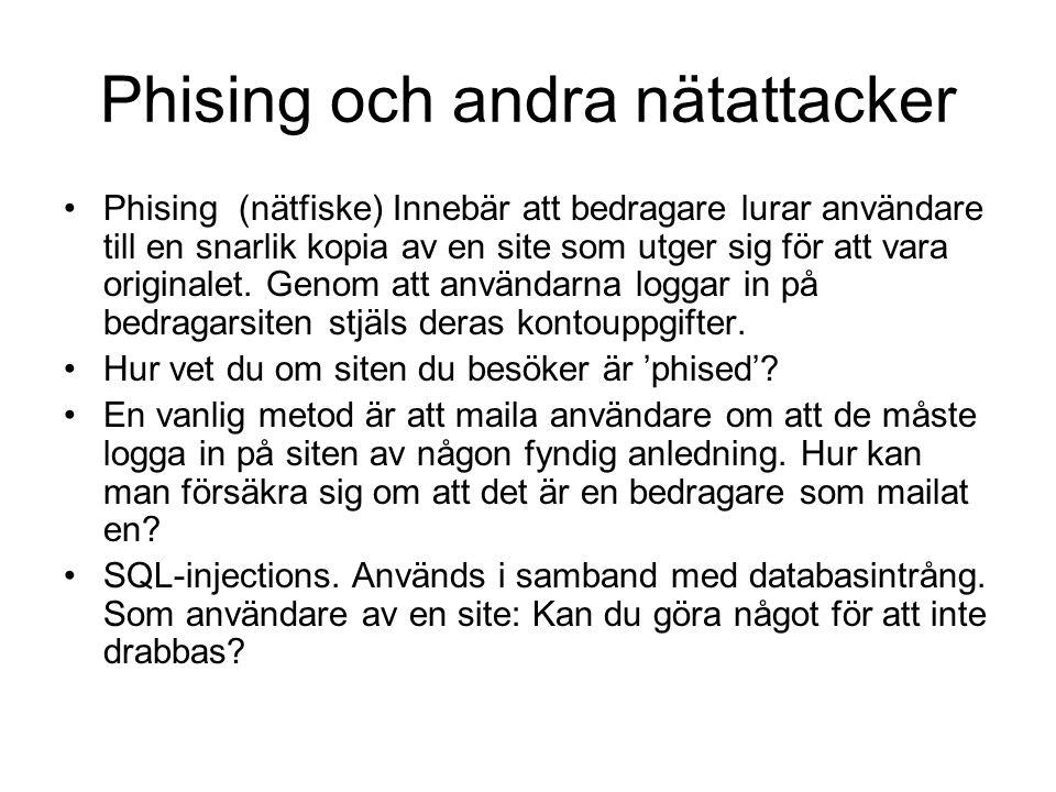 Phising och andra nätattacker