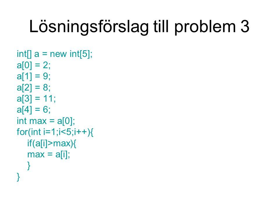 Lösningsförslag till problem 3