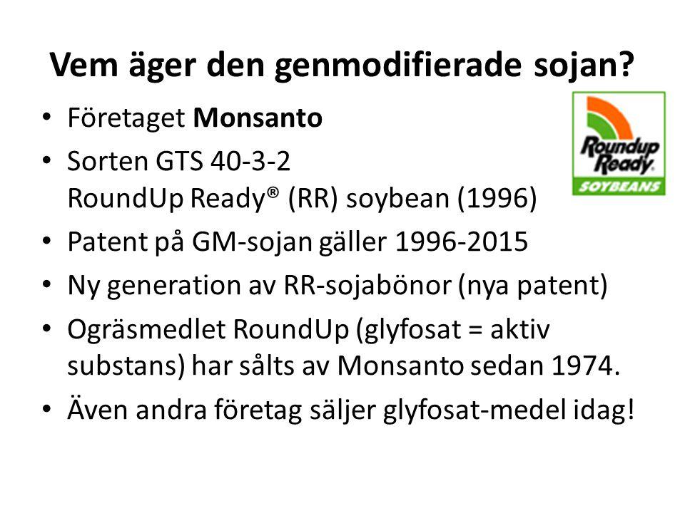 Vem äger den genmodifierade sojan