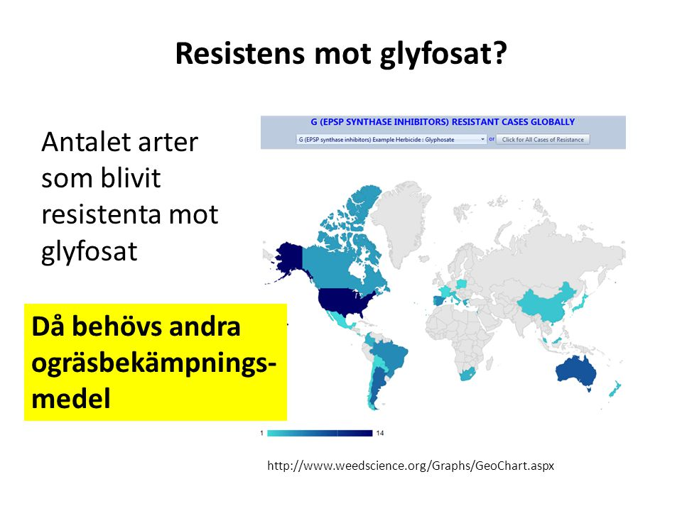 Resistens mot glyfosat