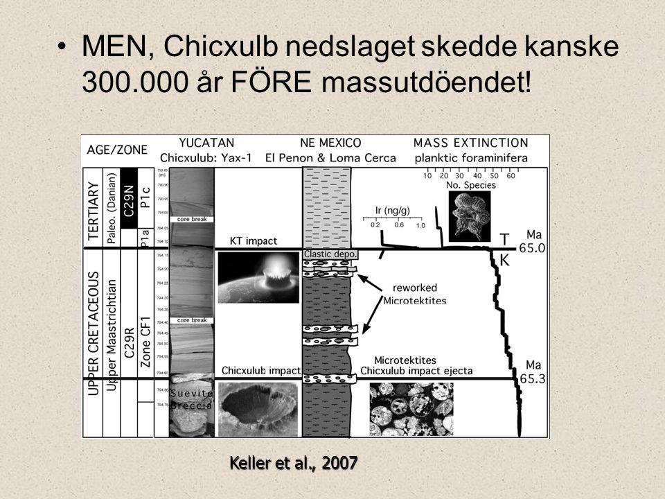 MEN, Chicxulb nedslaget skedde kanske 300.000 år FÖRE massutdöendet!