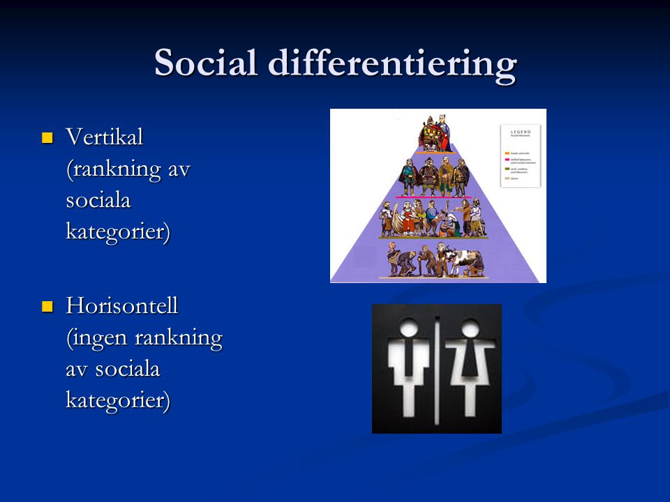 Social differentiering