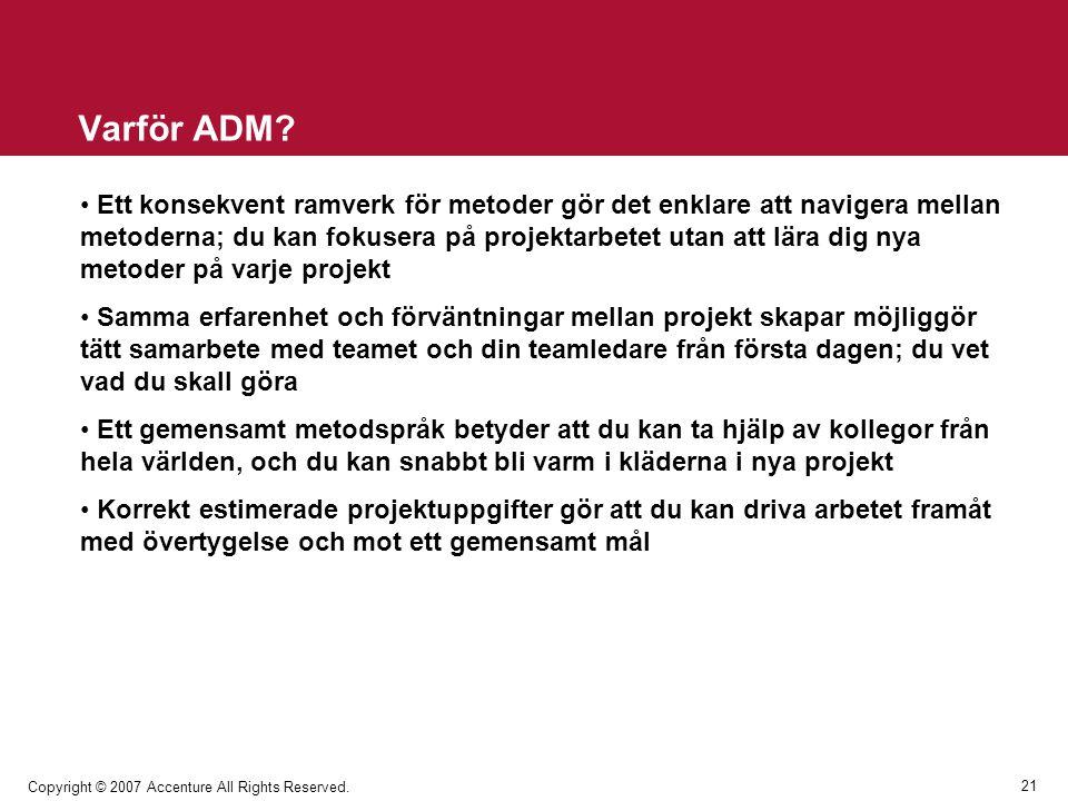 Varför ADM