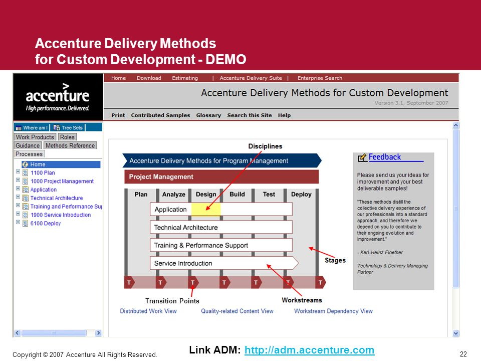 Accenture Delivery Methods for Custom Development - DEMO