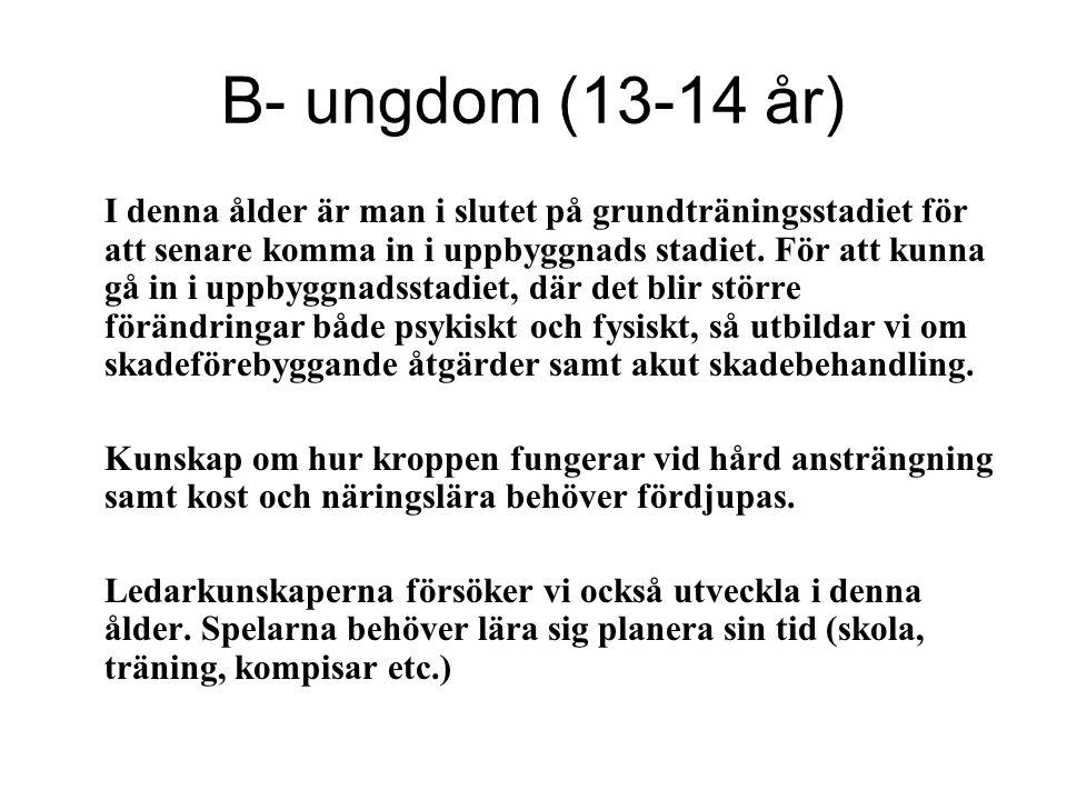 B- ungdom (13-14 år)