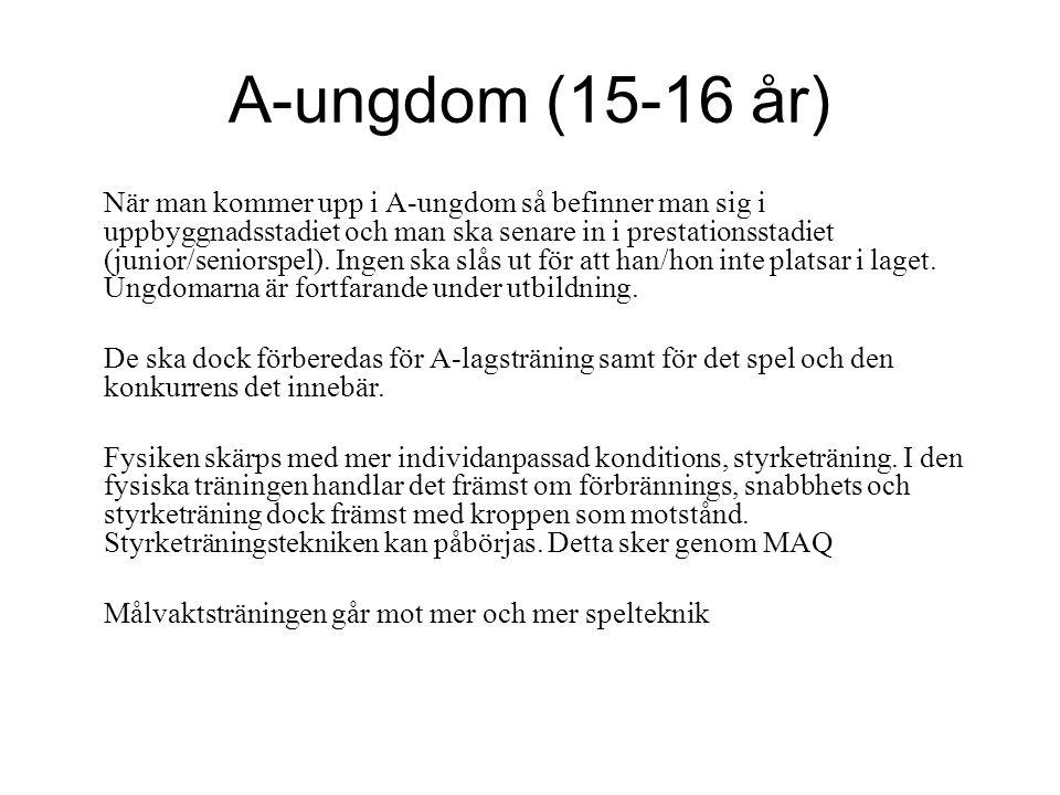 A-ungdom (15-16 år)