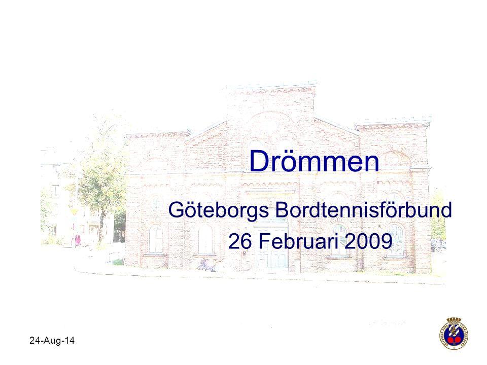 Göteborgs Bordtennisförbund 26 Februari 2009