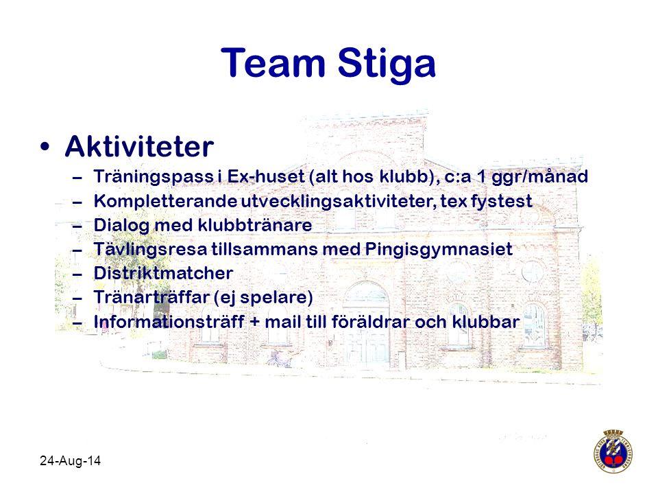 Team Stiga Aktiviteter