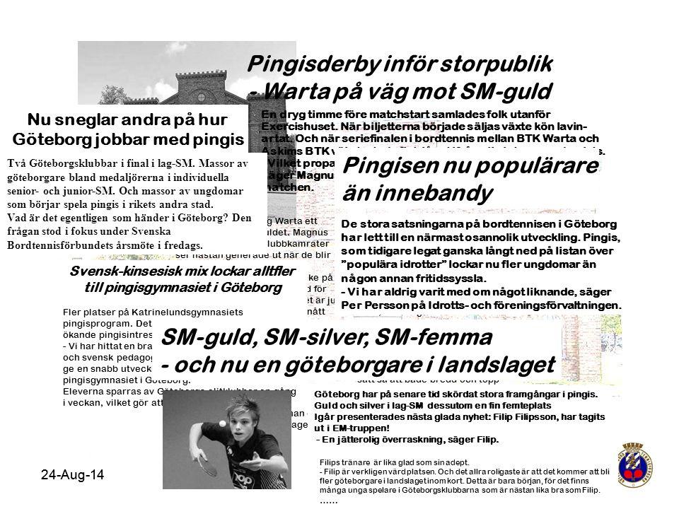 Pingisderby inför storpublik - Warta på väg mot SM-guld