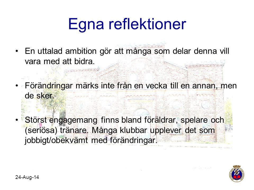Egna reflektioner En uttalad ambition gör att många som delar denna vill vara med att bidra.