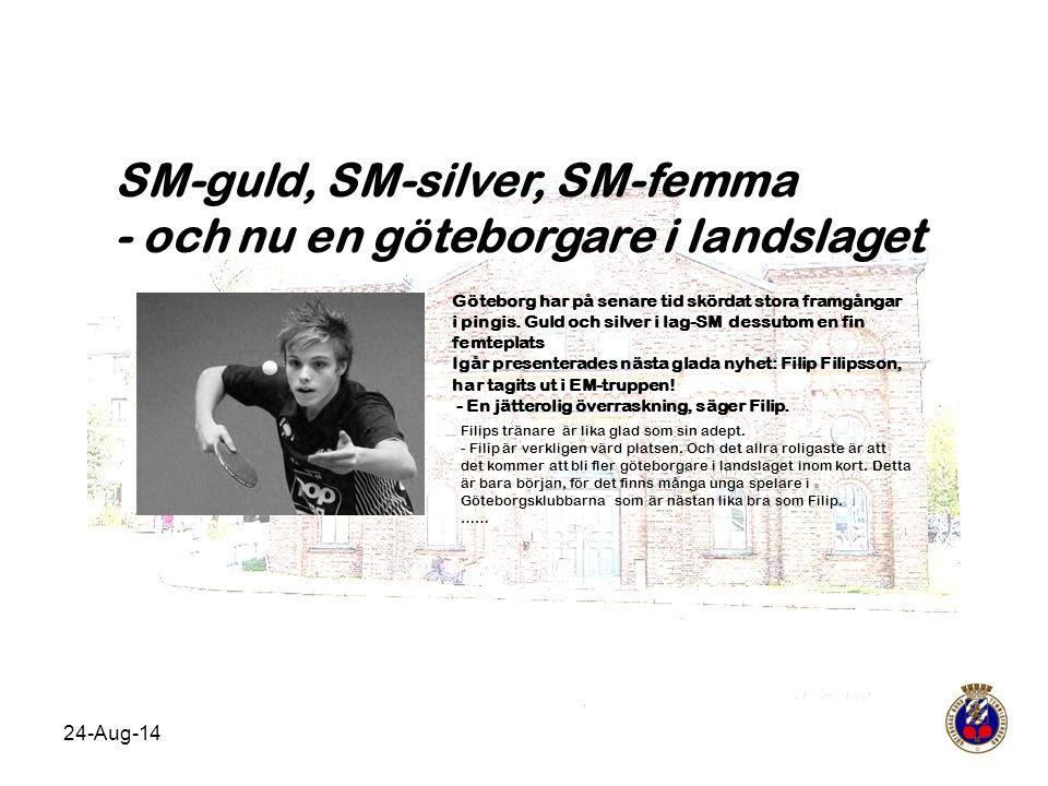 SM-guld, SM-silver, SM-femma - och nu en göteborgare i landslaget