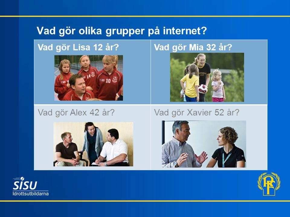 Vad gör olika grupper på internet