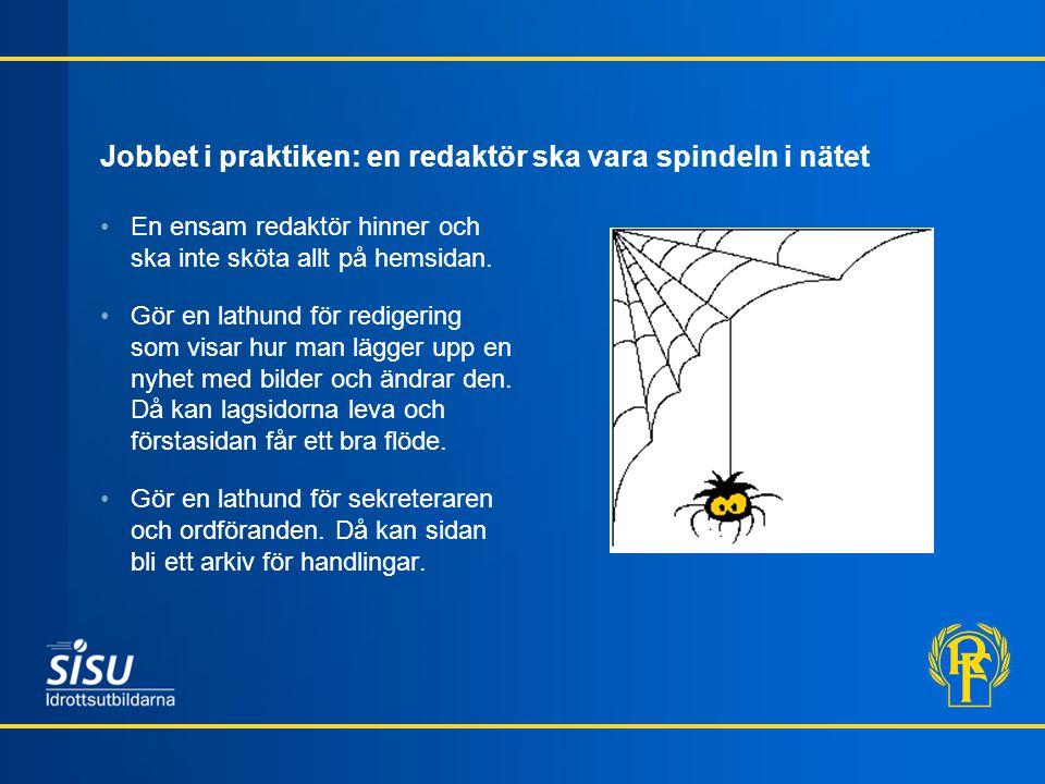 Jobbet i praktiken: en redaktör ska vara spindeln i nätet
