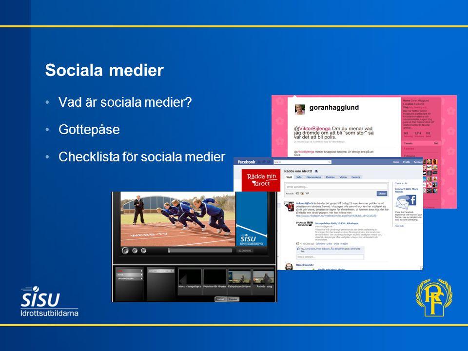 Sociala medier Vad är sociala medier Gottepåse