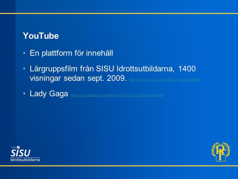 YouTube En plattform för innehåll