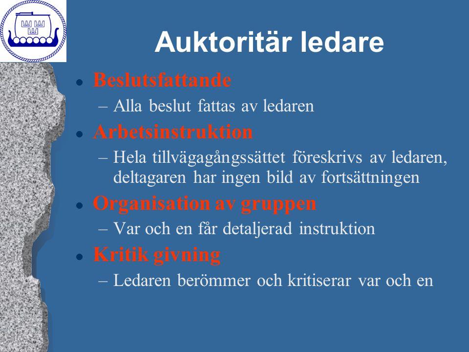 Auktoritär ledare Beslutsfattande Arbetsinstruktion