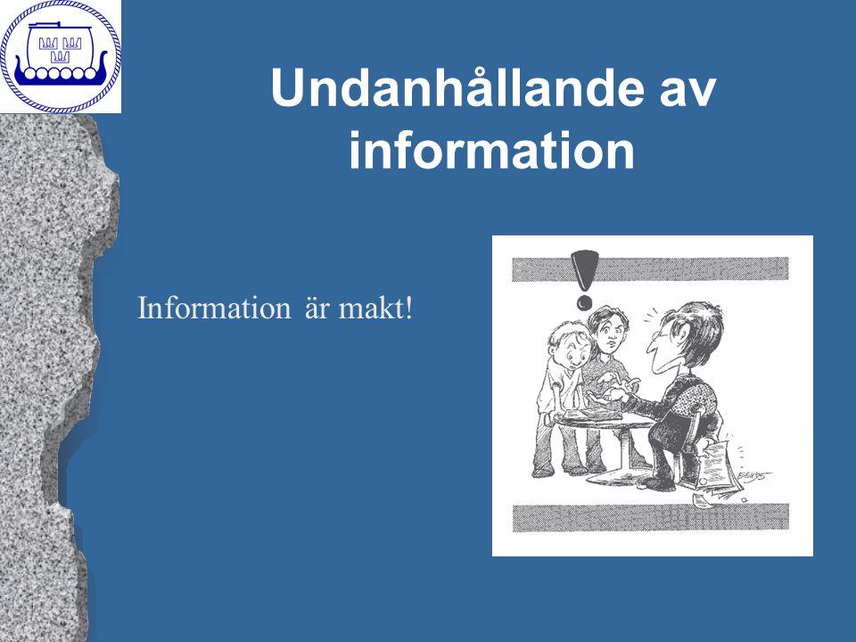 Undanhållande av information