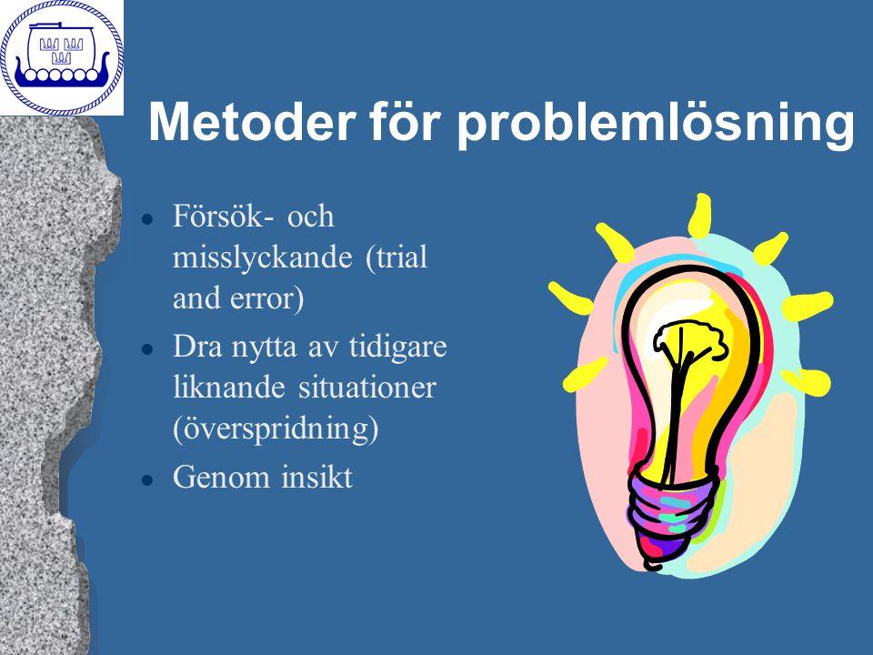Metoder för problemlösning