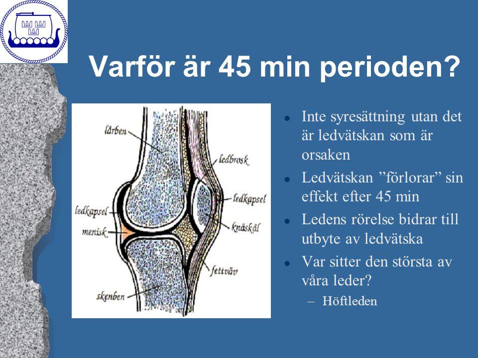 Varför är 45 min perioden Inte syresättning utan det är ledvätskan som är orsaken. Ledvätskan förlorar sin effekt efter 45 min.