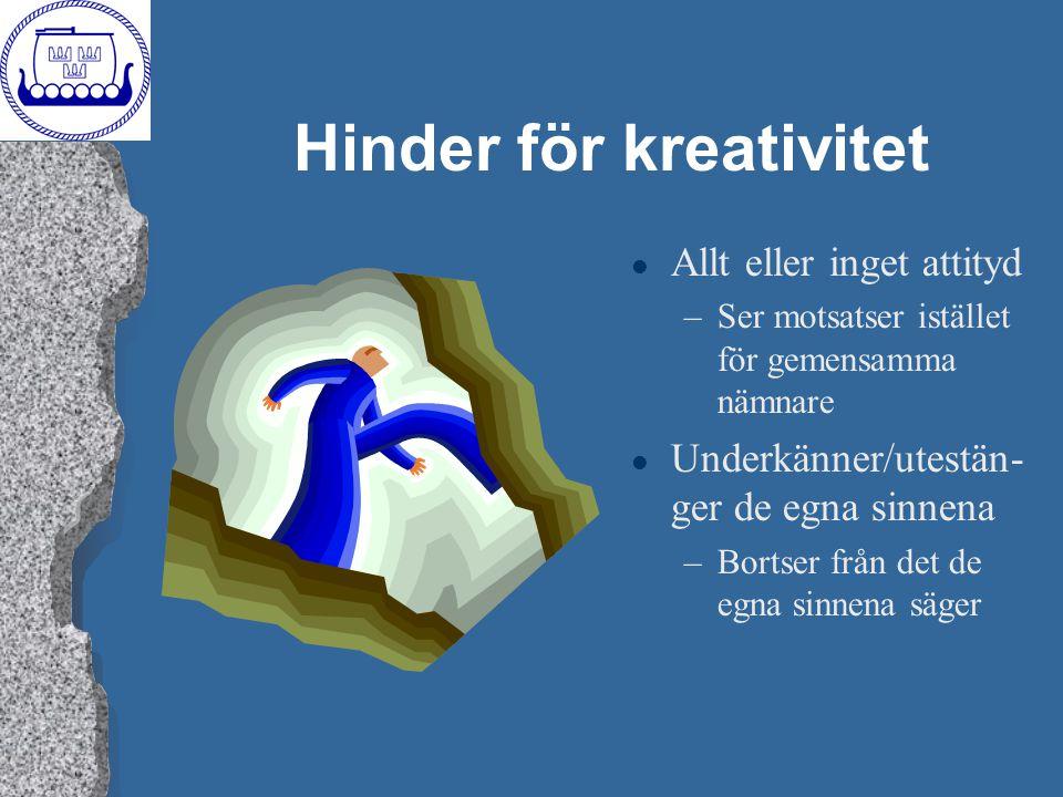 Hinder för kreativitet