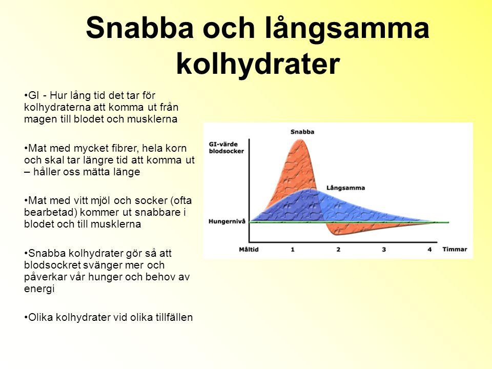 Snabba och långsamma kolhydrater